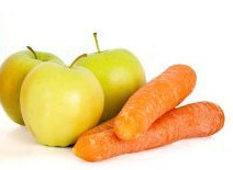 Crunchy fibrous food